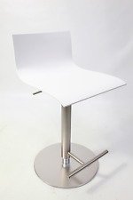 La Palma Thin Barhocker höhenverstellbar 54-79 cm weiß Holz Sitzfläche lackiert
