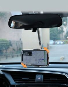 New 360° Rearview Mirror car Mount Holder universal Smart phone Stand Adjustable