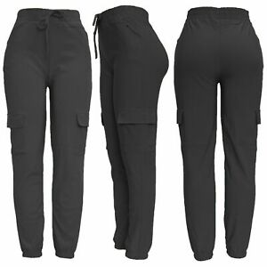 New Womens Cargo Combat Stretch Casual Trousers Ladies  Slim Fit Joggers Sport