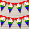 Rainbow Stripes Bright Gay Pride Personalised Birthday Bunting Party Banner