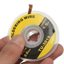 1.5m 3mm Malla Desoldar Desoldadora Desoldering Wire Cable Soldadura Remover Tin