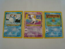3 Pokemon Black Star Promo Cards, Marill, Mew, Psyduck, Mint
