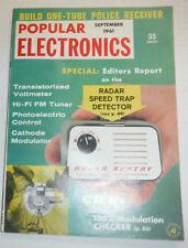 Popular Electronics Magazine Transistorized Voltmeter September 1961 120414R