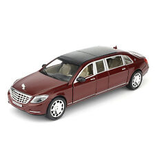 1:24 Mercedes Maybach S600 Limousine Diecast Metal Model Car Toy New in Box Red