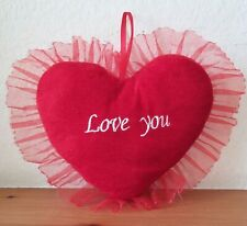 Love You Plush Heart Pillow (9in Red C3834
