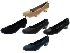 Womens Low Block Heels Comfort Work Office Loafers Smart Court Shoes Ladies Size