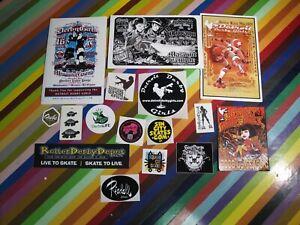 vtg 2000s Roller Derby programs, cards, sticker, schedules - Las Vegas Detroit+