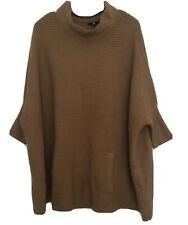 H&M Camel Jumper Poncho Style