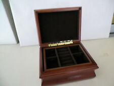 COMPACT WOOD JEWELRY STORAGE BOX PRE OWNED UNUSED