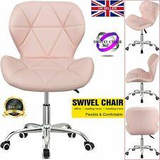 Swivel PU Leather Cushioned Chair Computer Ofice Desk Studio Salon Barber Pink
