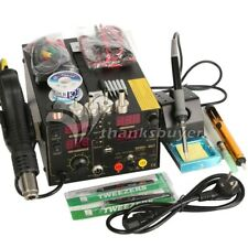 3In1 Soldering Rework Station +Hot Air Gun +DC Power Supply with 909D+ Full ACC.