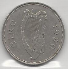 IRELAND,  1990, PUNT (POUND), COPPER NICKEL, KM#27, EXTRA FINE