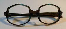 Vintage American Optical Oversized Hex Green Demi0 Eyeglass Frame Nos #299