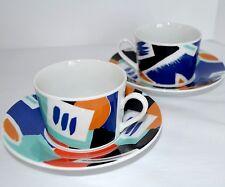 2 SELTMANN WEIDEN Authentics Demitasse Espresso Coffee Tea Cups & Saucers Modern