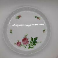 "Christineholm 9 1/2"" Rose Patterened Porcelain Tart Pan"
