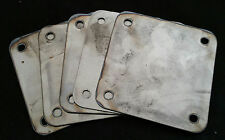 Lot of 10 - 5 x 5 inch Square flange plate plates custom steel mounting cover
