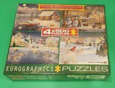 Eurographics Puzzle 4 Individual 500 Pc - Christmas Puzzle Set New