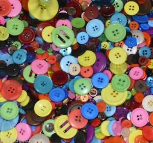PLASTIC MIXED BUTTONS = PLASTIC BUTTONS = ASSORTED BUTTONS = ARTS & CRAFTS