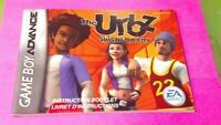 The Urbz Sims in City  Nintendo Game Boy Advance Instruction MANUAL ONLY No Game
