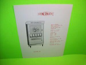 Stonermatic Model F2 Original Hot Sandwiches Vending Machine  Promo Sales Flyer