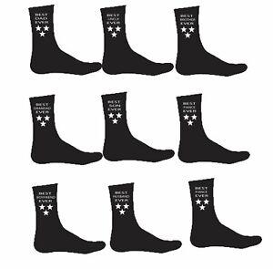 Personalised Mens Black Best Dad Uncle Husband Grandad Slogan Socks Xmas Gift