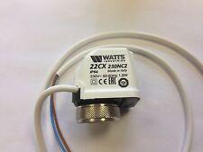 WATTS UFH ACTUATOR 230 VOLT, Actuator - 22C230NC2 /22CX