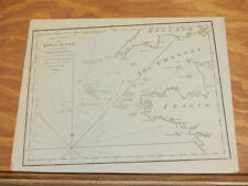 1779 Antique Map/CRUISE OF THE KING'S FLEET DURING THE ACTION OF JULY 31, 1778/b