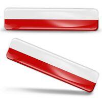 3D Gel Domed Silicone Poland National Flag Polish Stickers Flaga Polska Decals