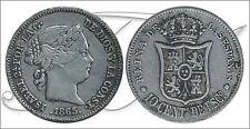 España - Monedas Isabel II- Año: 1865 - numero 00287 - MBC 10 Centimos 1865 Sevi