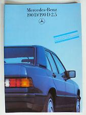 Prospekt Mercedes 190 D,190 D 2.5, 11.1985, 32 Seiten