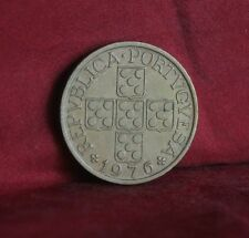 1976 Portugal 1 Escudo Bronze Coin Cross Grain km567