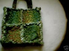 Toddler little girl rag quilt purse Rainbow Shamrock