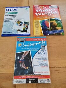 A4 Photographic Paper x 75 Sheets ~ 50 x 185 gsm Gloss and 25 sheets of 180 gsm