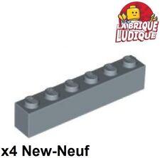 Lego - 4x Brique Brick 1x6 6x1 bleu pale sable/sand blue 3009 NEUF