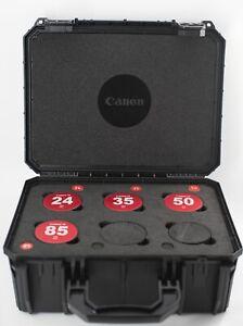 Canon FD SSC 4 Lens Starter Set cinevised 24/35/50/85 EF mount
