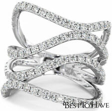 Engagement Cubic Zirconia Sterling Silver Fine Rings
