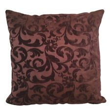 "Dark Brown Brocade Upholstery 18x18"" Decorative/Throw Pillow Case/Cushion Cover"