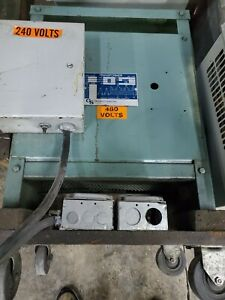 Transformer 15 KVA Hevi Duty 480/240 on wheels