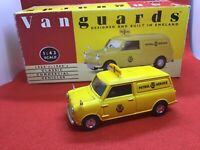 Vanguards VA14002 AA livery Mini Van made in England 1/43 scale diecast