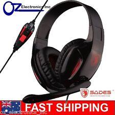 SADES ePOWER SA-707 Stereo PC Gaming Headset Headphones Noise Cancel Mic 3.5mm