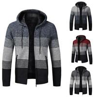 Mens Winter Thick Chunky Knitted Cardigan Sweater Long Sleeve Jacket Coat
