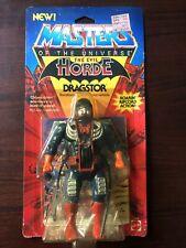 On Card MOTU Masters of the Universe He-Man DRAGSTOR Mattel 1986 original