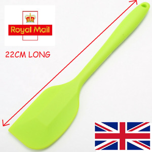 Green Silicone Spatula Non Stick Soft Grip Heat Resistant Cooking Kitchen Aid