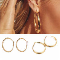 Fashion Large Circle Geometry Metal Drop Dangle Gold Earrings Women Jewelry