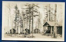 Jellison's Camps Rockwood Maine me real photo postcard Rppc
