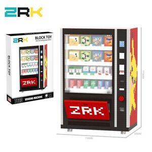 2560Pcs Vending Machine Pikachu Pokemon Mini Diamond Building Blocks Bricks