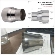 Car SUV Stainless Steel 76.2mm to 51.6mm Exhaust Reducer Connector Pipe Adapter