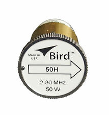 New Bird 50H Plug-in Element 0 to 50 watts for 2-30 MHz for Bird 43 Wattmeters