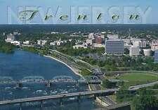 Aerial View of Trenton, New Jersey, Delaware River, Bridge, Roads etc - Postcard