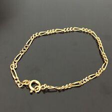 Bracelet Vintage Plaqué Or Maille Gourmette Bangle Gold Filled